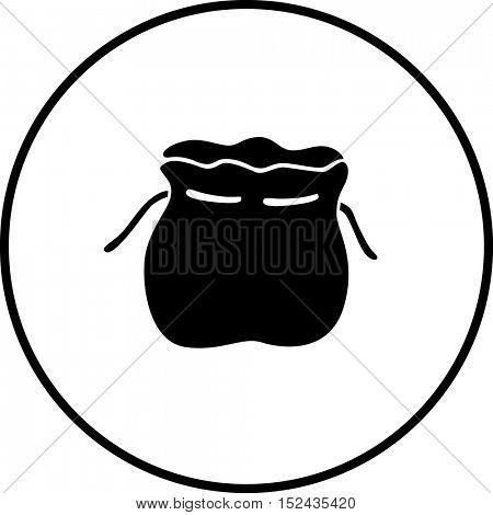 empty corded bag symbol