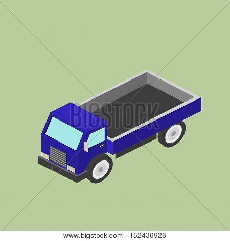 Freight car for transportation. Delivery, transportation. Isometric vector illustration