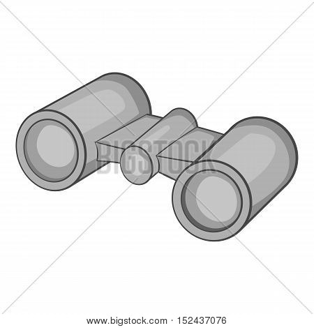 Binoculars icon. Gray monochrome illustration of binoculars vector icon for web