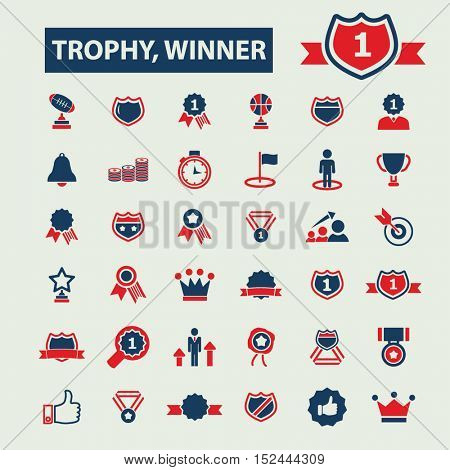 trophy winner icons