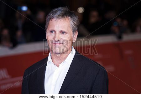 Rome Italy - October 17 2016: Viggo Mortensen walks a red carpet for 'Captain Fantastic' During The 11th Rome Film Festival.