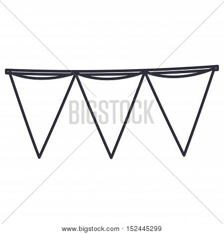 Pennant icon. Banner flag and event theme. Isolated design. Vector illustration