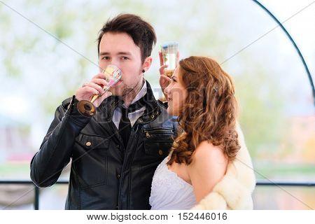 New married couple portrait