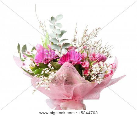 beautiful bouquet of flowers isolted on white