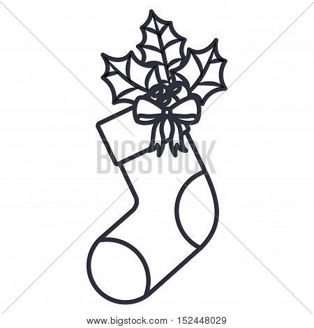 Boot icon. Merry christmas season celebration and decoration theme. Isolated design. Vector illustration