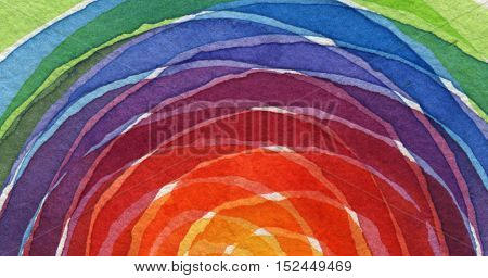 Abstract rainbow acrylic and watercolor circle painted background. Texture paper.