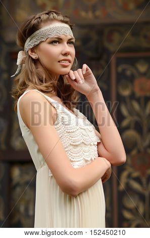 Beautiful natural young blonde woman