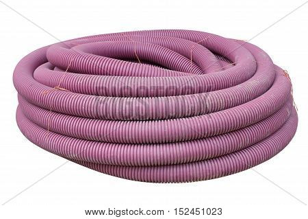 image of plastic pipe isolated on white background