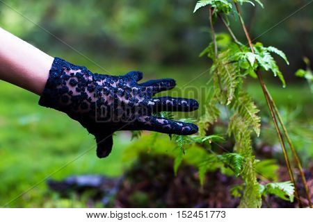 Hands In Black Gloves