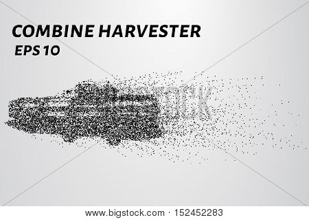 Harvester of particles. The harvester consists of small circles. Combine into smaller molecules.