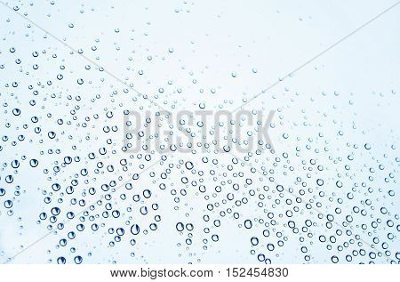 Water droplets on glass texture