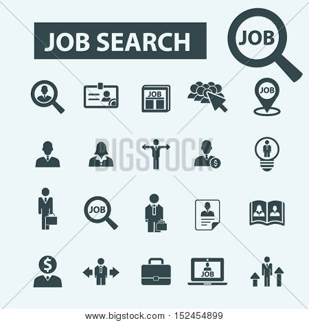 job search icons