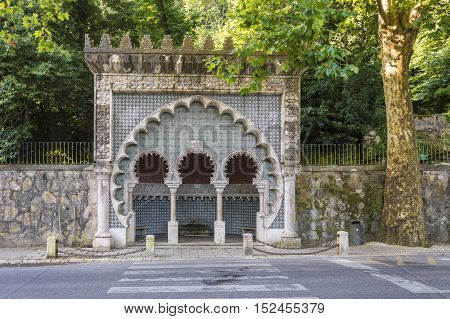 Sintra Portugal Historic water source in the city