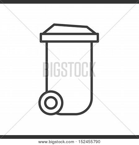 Trash can linear icon. Thin line illustration. Vector isolated outline drawing
