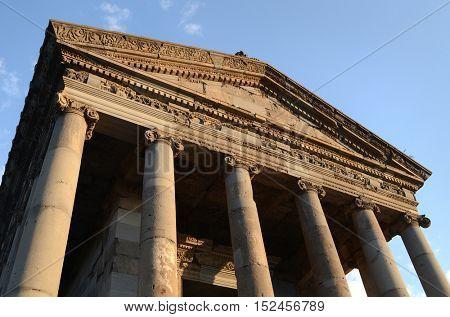Temple of Garni, a first century Hellenic temple near Garni, Armenia. UNESCO World heritage site
