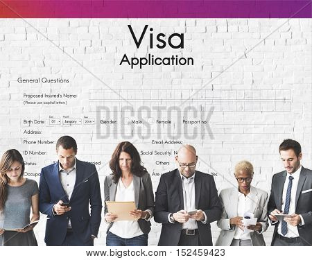 Visa Application Travel Form Concept