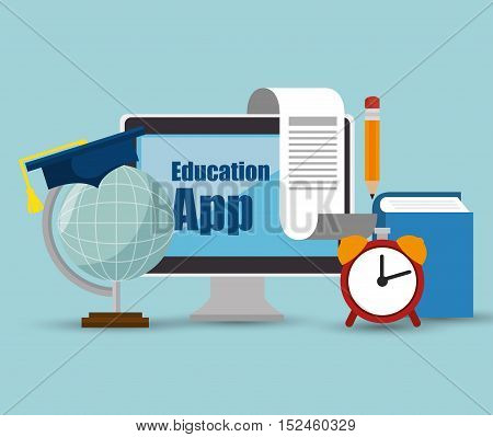 education app online computer icons design vector illusration eps 10