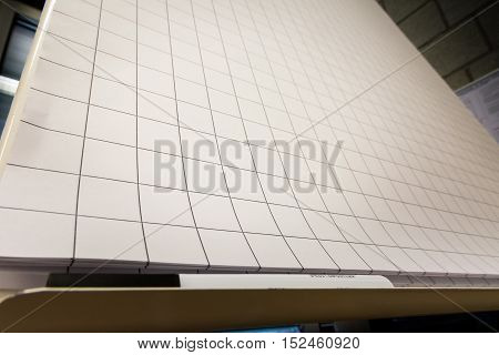 Grid Paper Flipchart Large Sheets Brainstorming Empty Blank Black White Marker Corner Perspective Board