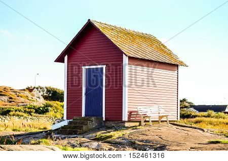 traditional swedish falun red wooden cottage house