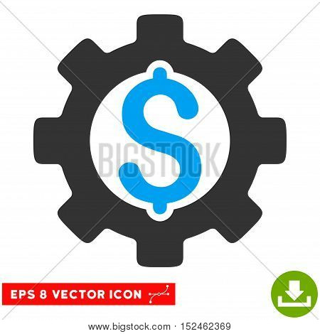 Development Cost EPS vector icon. Illustration style is flat iconic bicolor blue and gray symbol on white background.