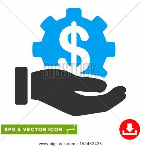 Development Service EPS vector pictograph. Illustration style is flat iconic bicolor blue and gray symbol on white background.