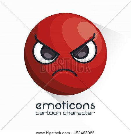 emoticon with angry face icon vector illustration eps 10