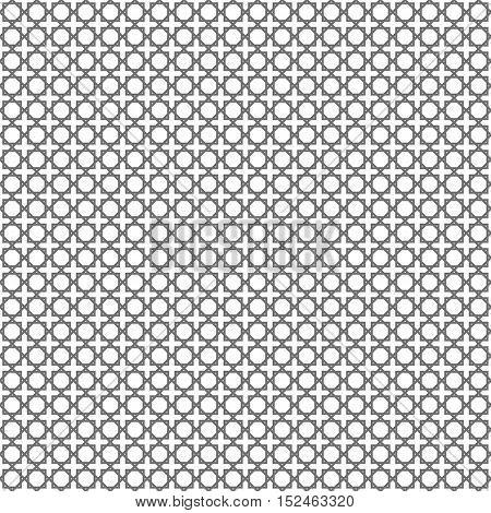 Geometric grey arabic islamic seamless pattern. Vector abstract background.