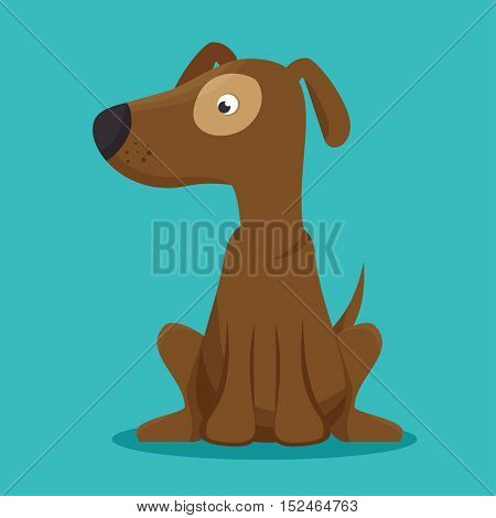 dog puppy icon graphic blue background vector illustration eps 10