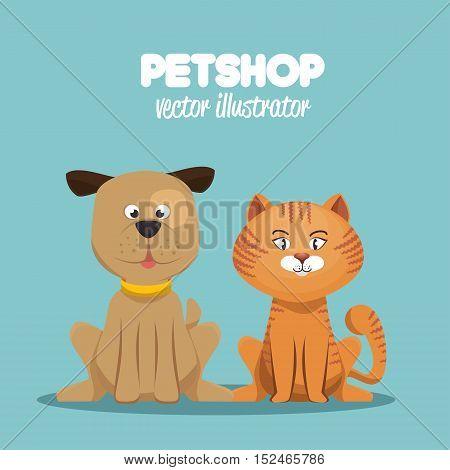 petshop veterinary symbol icon vector illustration eps 10
