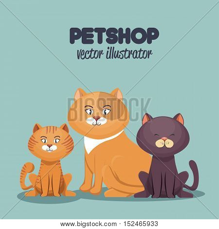 pet shop cats and dog care mascot vector illustration eps 10