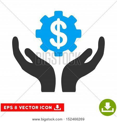 Maintenance Price EPS vector icon. Illustration style is flat iconic bicolor blue and gray symbol on white background.