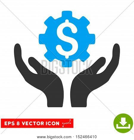 Maintenance Price EPS vector pictogram. Illustration style is flat iconic bicolor blue and gray symbol on white background.