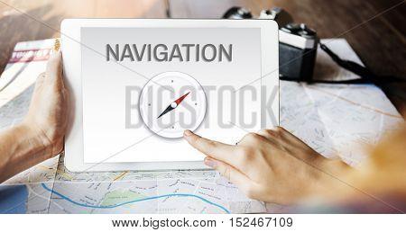 Navigation Destination Location GPS Map Concept