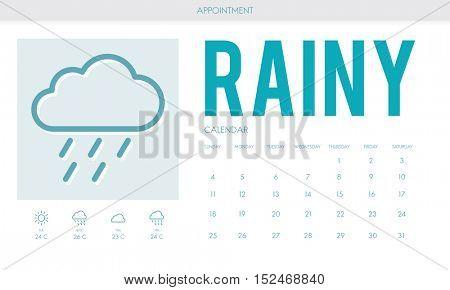 Rainy Forecast Weather Rainy Cloud Concept