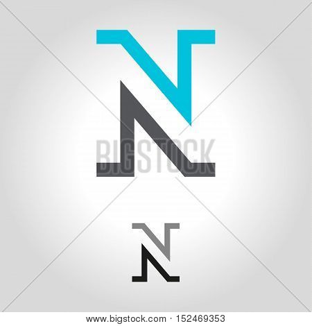 n logo icon and shape vector illustration