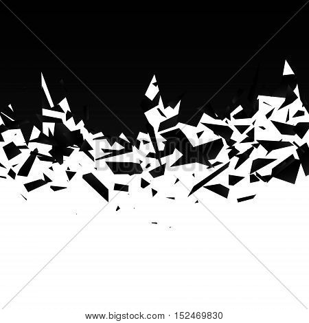 Abstract black explosion on white background, EPS10