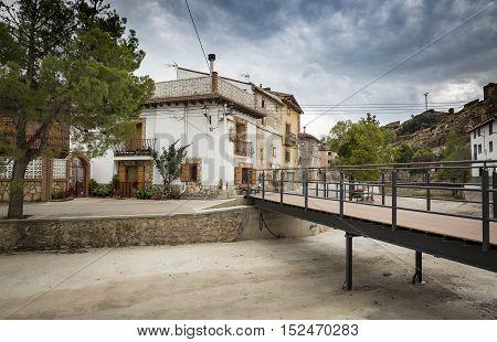 a street in La Hoz de la Vieja Town, Teruel, Spain