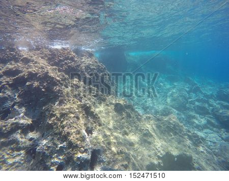 Beautiful Under Water Scenery in Hydra Greece island