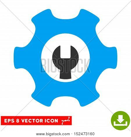 Service Tools EPS vector pictograph. Illustration style is flat iconic bicolor blue and gray symbol on white background.