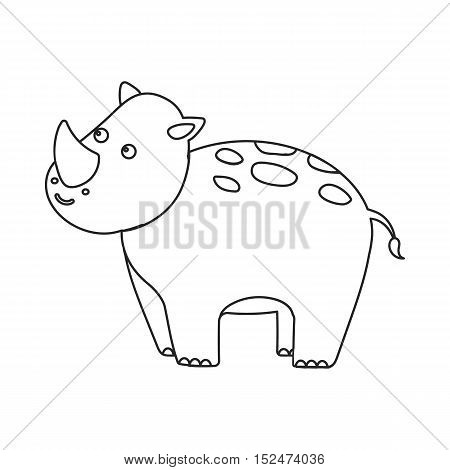 Rhinoceros icon outline. Singe animal icon from the big animals outline.