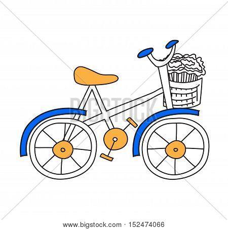 Bicycle set antique sport old fashion vintage grunge bicycle flat vector.