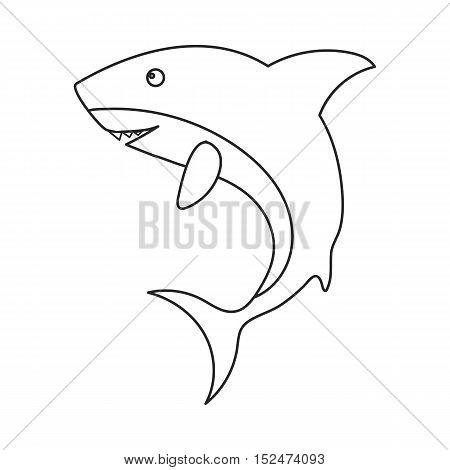 Shark icon outline. Singe animal icon from the big animals outline.