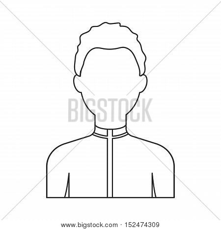 Boy icon outline. Single avatar, people icon from the big avatar outline.