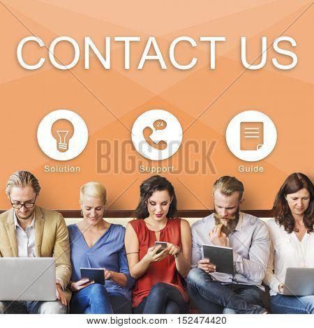 Contact Us Information Help Desk Concept