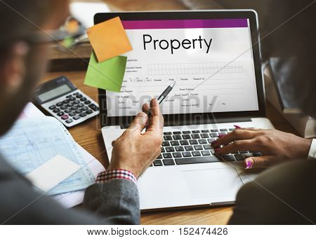 Property Release Claim Form Concept