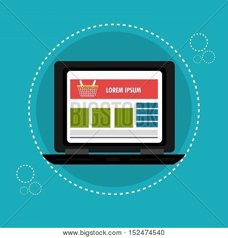 laptop cyber monday web page vector illustration eps 10