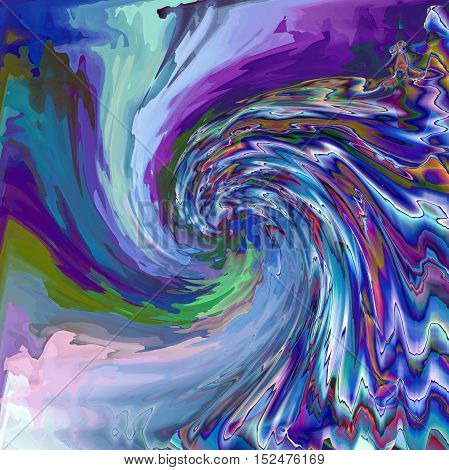 Abstract coloring background of the horizon gradient with visual pagecurl,lighting,wave,pinch and twirl effects