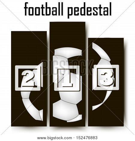 Football Abstract pedestal. soccer ball. Vector illustration