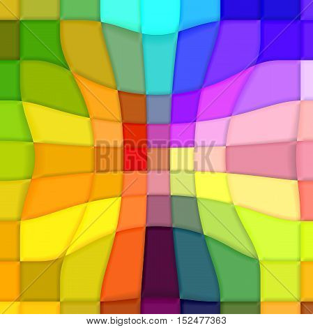 Abstract coloring background of the pastels gradient with visual mosaic,pinch and lighting effects