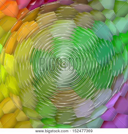 Abstract coloring background of the pastels gradient with visual mosaic,spherize,zigzag and plastic wrap effects